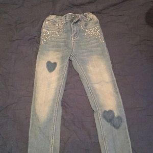 Girls distressed jeans size 5